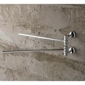 Swivel Towel Bar 12 Inch Polished Chrome Double Arm Swivel Towel Bar Toscanaluce 1519