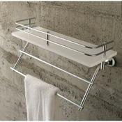Bathroom Shelf Plexiglass 13 Inch Bath Bathroom Shelf With Railing And Towel Bar Toscanaluce 1538