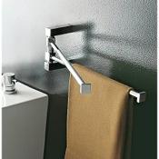 Swivel Towel Bar 14 Inch Polished Chrome Swivel Towel Bar Toscanaluce 4519