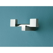 Bathroom Hook Polished Chrome Twin Robe Hook Toscanaluce 4524