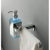 Soap Dispenser Wall Mounted Square Brass Soap Dispenser with Towel Rail Toscanaluce 4528