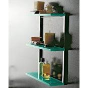 Bathroom Shelf Square Plexiglass Triple Bathroom Shelf Toscanaluce 4543