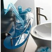 Bathroom Shelf Plexiglass 24 Inch Bathroom Shelf with Rail Toscanaluce 5513