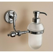 Soap Dispenser Wall Mounted Classic-Style Round Frosted Glass Soap Dispenser Toscanaluce 6523V