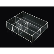 Drawer Organizer Draw Organizer Made From Plexiglass in Transparent Finish Toscanaluce K 153