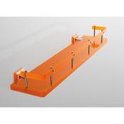 Bathroom Shelf Plexiglass 24 Inch Bathroom Shelf with Rail and Plexiglass Wall Mounts Toscanaluce G313