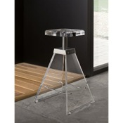 Bathroom Stool Plexiglass Square Bathroom Stool K129/C Toscanaluce K129/C