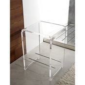 Bathroom Stool Plexiglass Square Bathroom Stool K130 Toscanaluce K130
