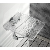 Bathroom Stool Wall Mounted Ice Effect Plexiglass Bathroom Folding Stool K131 Toscanaluce K131