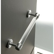 Towel Bar Plexiglass 16 Inch Towel Bar with Chrome Wall Mounts Toscanaluce K134