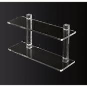 Bathroom Shelf 20 Inch Double Tier Plexiglass Bathroom Shelf Toscanaluce L000/50