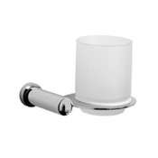 Toothbrush Holder Wall Mounted Frosted Glass Bathroom Tumbler Windisch 85456
