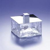 Bathroom Jar Square Crackled Crystal Glass Bathroom Jar Windisch 88127
