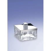Bathroom Jar Free Standing Crackled Glass Square Bath Jar Windisch 88147