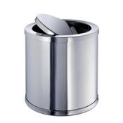 Waste Basket Brass Round Mini Waste Bin With Swivel Lid Windisch 89182