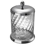 Waste Basket Twisted Glass Waste Bin In Chrome Finish Windisch 89802CR