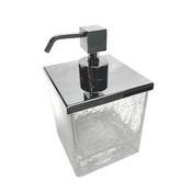 Soap Dispenser Squared Crackled Crystal Glass Soap Dispenser Windisch 90412