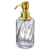 Soap Dispenser Soap Dispenser Made from Twisted Glass Windisch 90801O