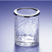 Toothbrush Holder Crackled Crystal Glass Toothbrush Holder Windisch 91125