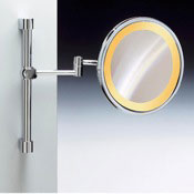 Makeup Mirror Wall Mounted Chrome or Gold Round Lighted 3x or 5x Magnifying Mirror Windisch 99159