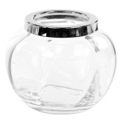 Toothbrush Holder Rounded Plain Crystal Glass Toothbrush Holder Windisch 91475D