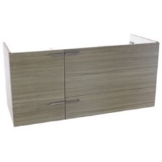 47 Inch Wall Mount Larch Canapa Double Bathroom Vanity Cabinet