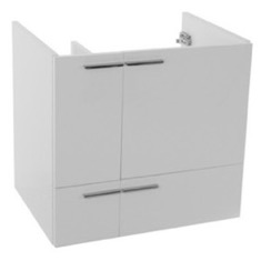 23 Inch Wall Mount Glossy White Bathroom Vanity Cabinet