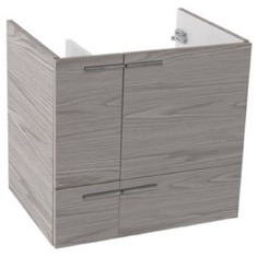 23 Inch Wall Mount Grey Walnut Bathroom Vanity Cabinet