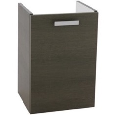 15 Inch Wall Mount Grey Oak Bathroom Vanity Cabinet