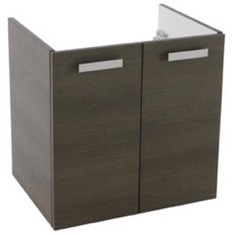 22 Inch Wall Mount Grey Oak Bathroom Vanity Cabinet