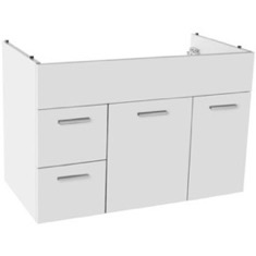 33 Inch Wall Mount Glossy White Bathroom Vanity Cabinet