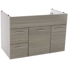 33 Inch Wall Mount Larch Canapa Bathroom Vanity Cabinet