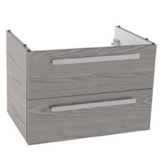 25 Inch Wall Mount Grey Walnut Bathroom Vanity Cabinet