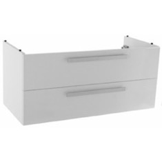 38 Inch Wall Mount Glossy White Bathroom Vanity Cabinet