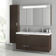 47 Inch Wenge Bathroom Vanity Set ANS214