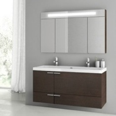 47 Inch Wenge Bathroom Vanity Set ANS212