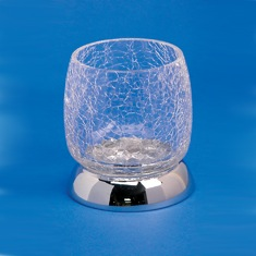 Crackled Glass Tumbler