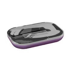 Lilac and Chrome Rectangle Soap Dish