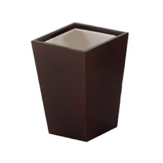 Square Tanganika Wood Toothbrush Holder