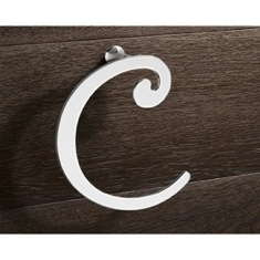 Chrome Towel Ring Crescent Shape