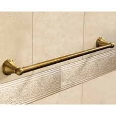 Classic-Style Bronze 24 Inch Towel Bar