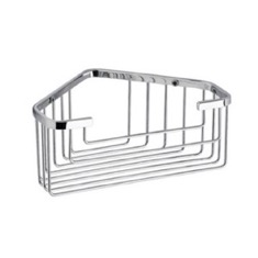Chrome Wire Corner Shower Basket