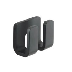 Modern Matte Black Double Robe Hook