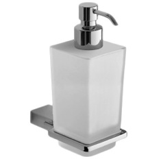 Wall Mounted Square Frosted Glass Soap Dispenser