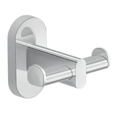 Wall Mounted Chrome Double Bathroom Hook
