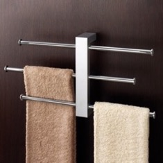 Polished Chrome Wall Mounted Towel Rack With 3 16 Inch Sliding Rails 7630-13