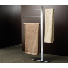 Square Chromed Brass Towel Stand 7631-13
