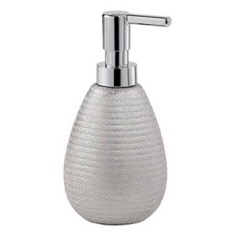 Silver Finish Soap Dispenser Made From Pottery