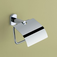 Polished Chrome Toilet Roll Holder With Cover