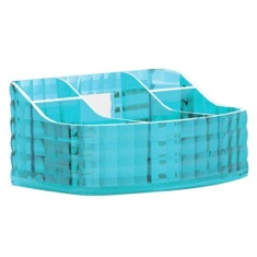 Make-up Tray Made From Thermoplastic Resin With Turquoise Finish